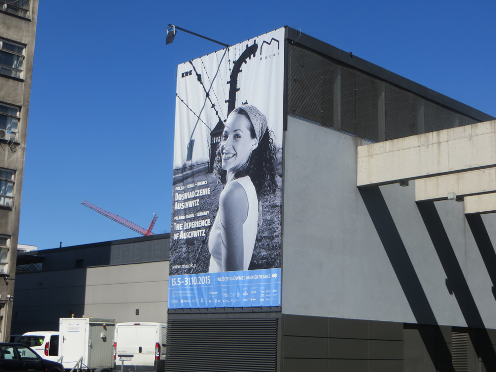 Poster to the exibition in MOCAK, photo by Alexandra Jason