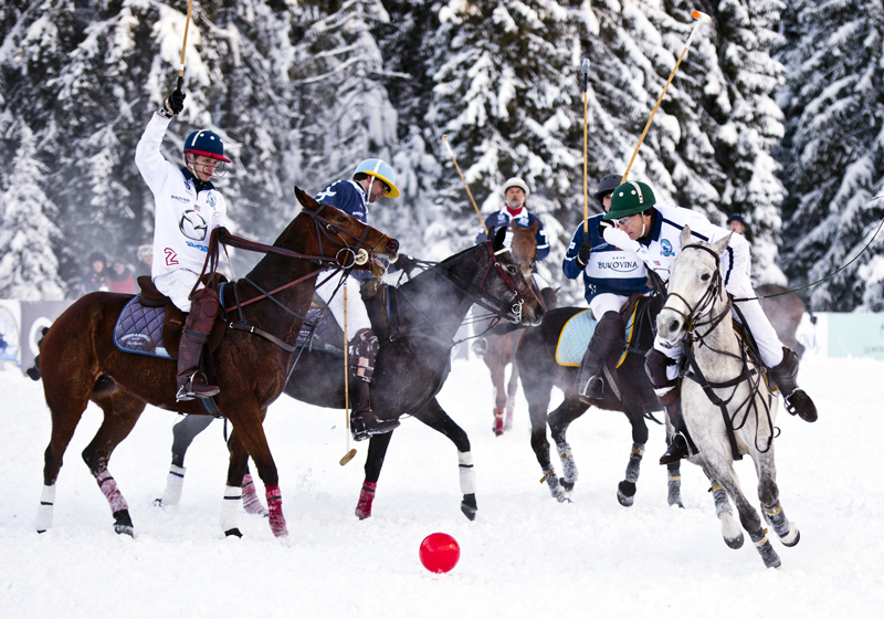 Bukowina Tatrzańska, polo tournament on snow, photo: Piotr Tracz / Reporter