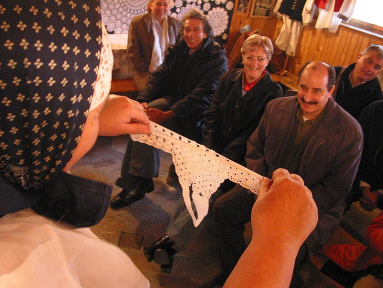 The ambassadors from Latin America during visit in Koniaków watching folklore underwear, photo by Paweł Sowa / Agencja Gazeta