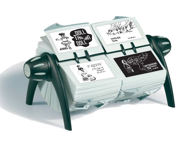 The kind of Rolodex to be used in the Finnegans Meet