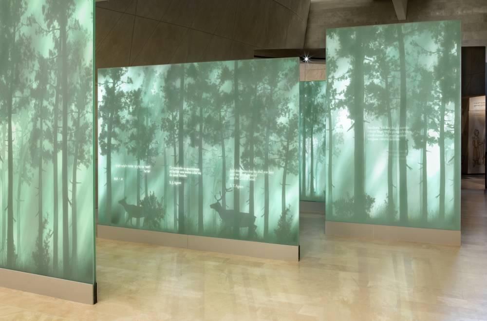 Galeria Las jest pierwszą galerią wystawy stałej, z którą mogli się zapoznać dziennikarze, fot. MAgda Starowieyska