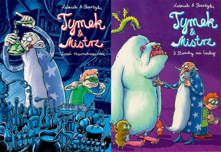 """""""Tymek i Mistrz"""", wyd. Egmont, okładki komiksów, fot. materiały promocyjne"""