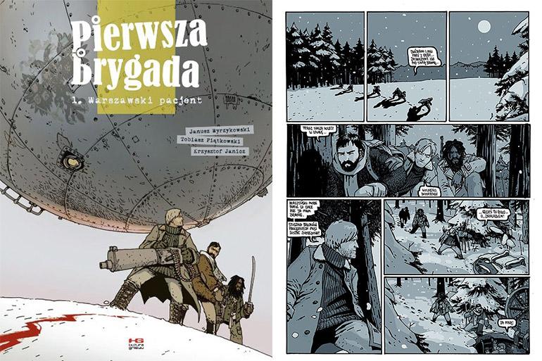 """Okładka i kadr """"Pierwsza brygada. Warszawski pacjent"""", fot. mat. prasowe"""