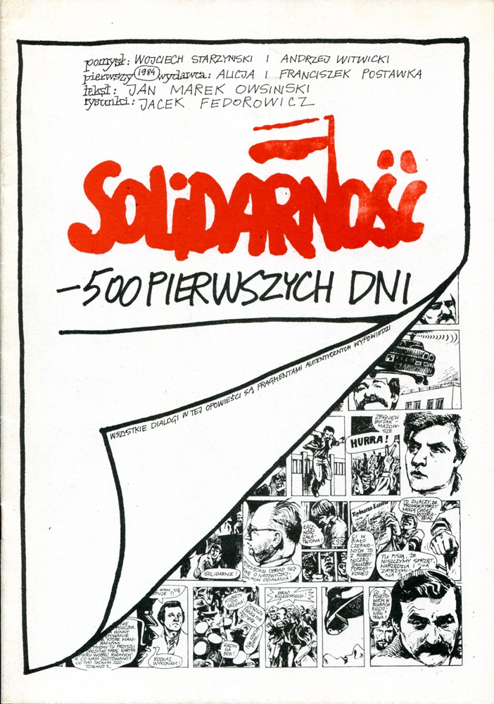 Cover of Solidarity - The First 500 Days, photo source: www.sierpien1980.pl