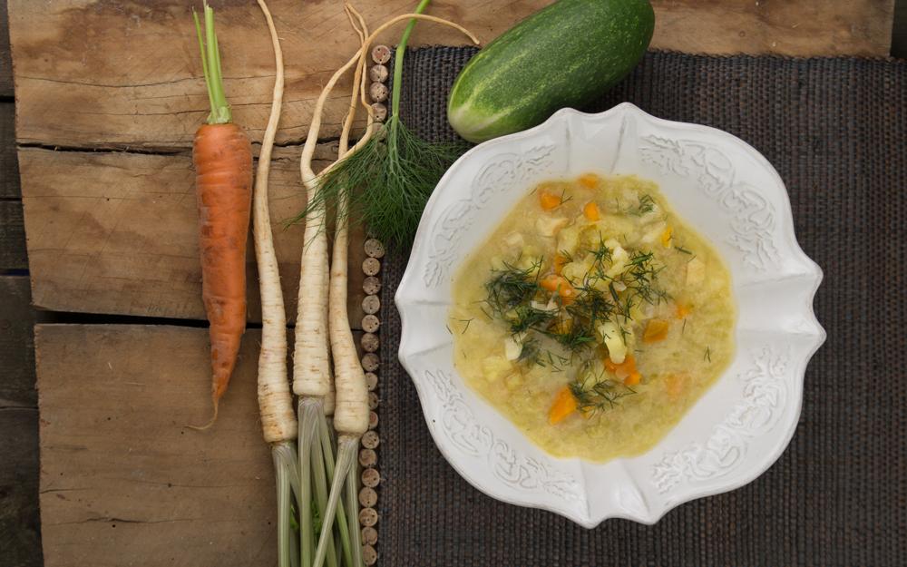 Gherkin soup (ogórkowa), photo: http://www.dobrzejemy.pl