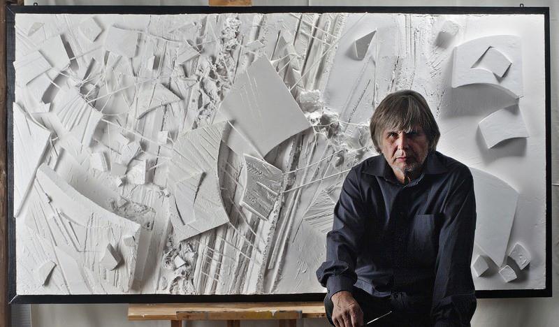 Tadeusz Baranowski w swojej pracowni, fot. www.tadeuszbaranowski.eu