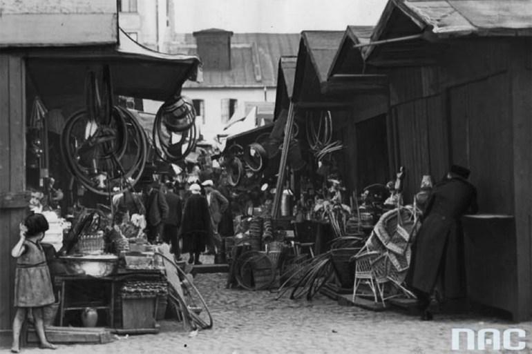 Warszawski bazar Kercelak, 1932, fot. Koncern Ilustrowany Kurier Codzienny - Archiwum Ilustracji / Narodowe Archiwum Cyfrowe (NAC)