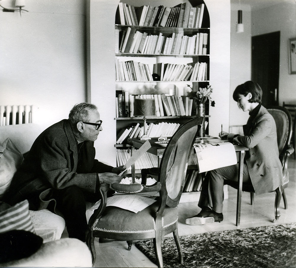 Rita i Witold Gombrowicz, Vence, 1969 (kurs filozofii), fot. Hanne Garthe