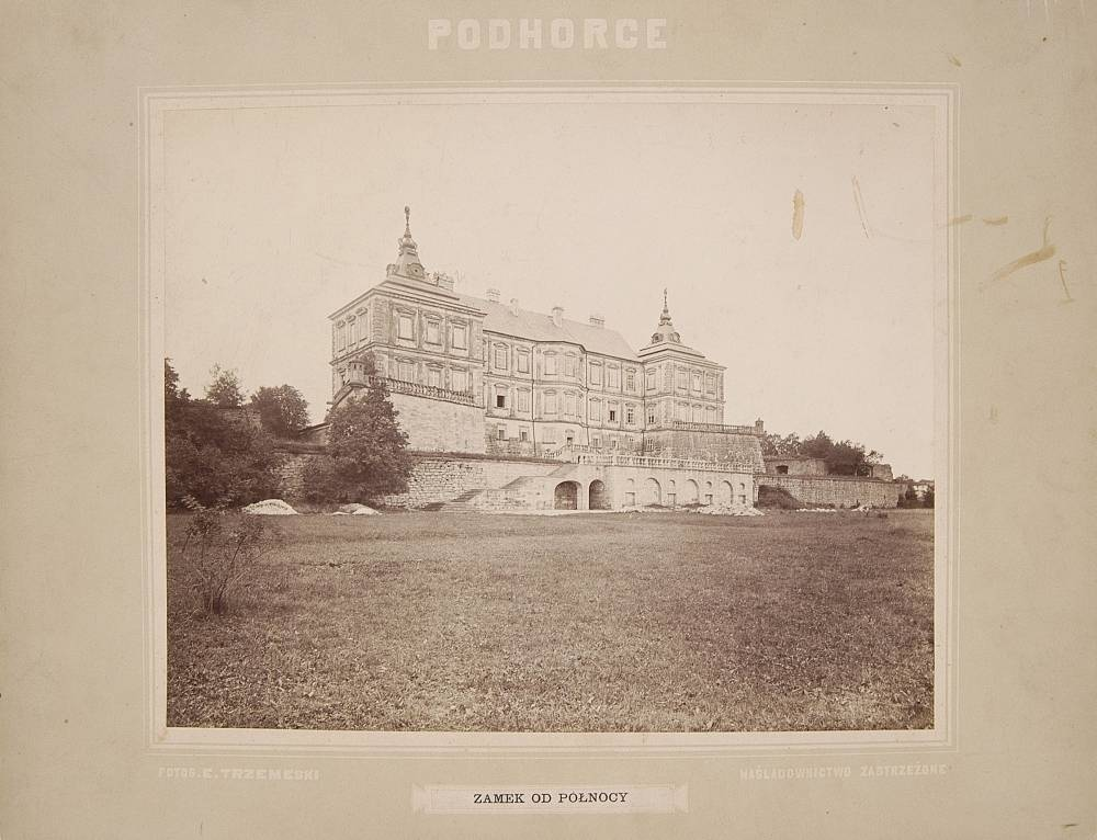 The Koniecpolski family castle in Podhorce, Ukraine, ca. 1880; Source: Polona.pl