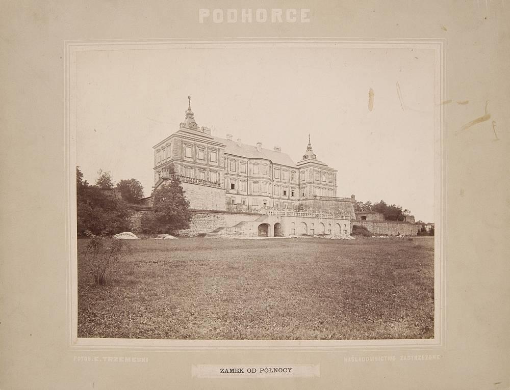 The Koniecpolski family castle in Podhorce, Ukraine, ca. 1880; Source: Polona.pl
