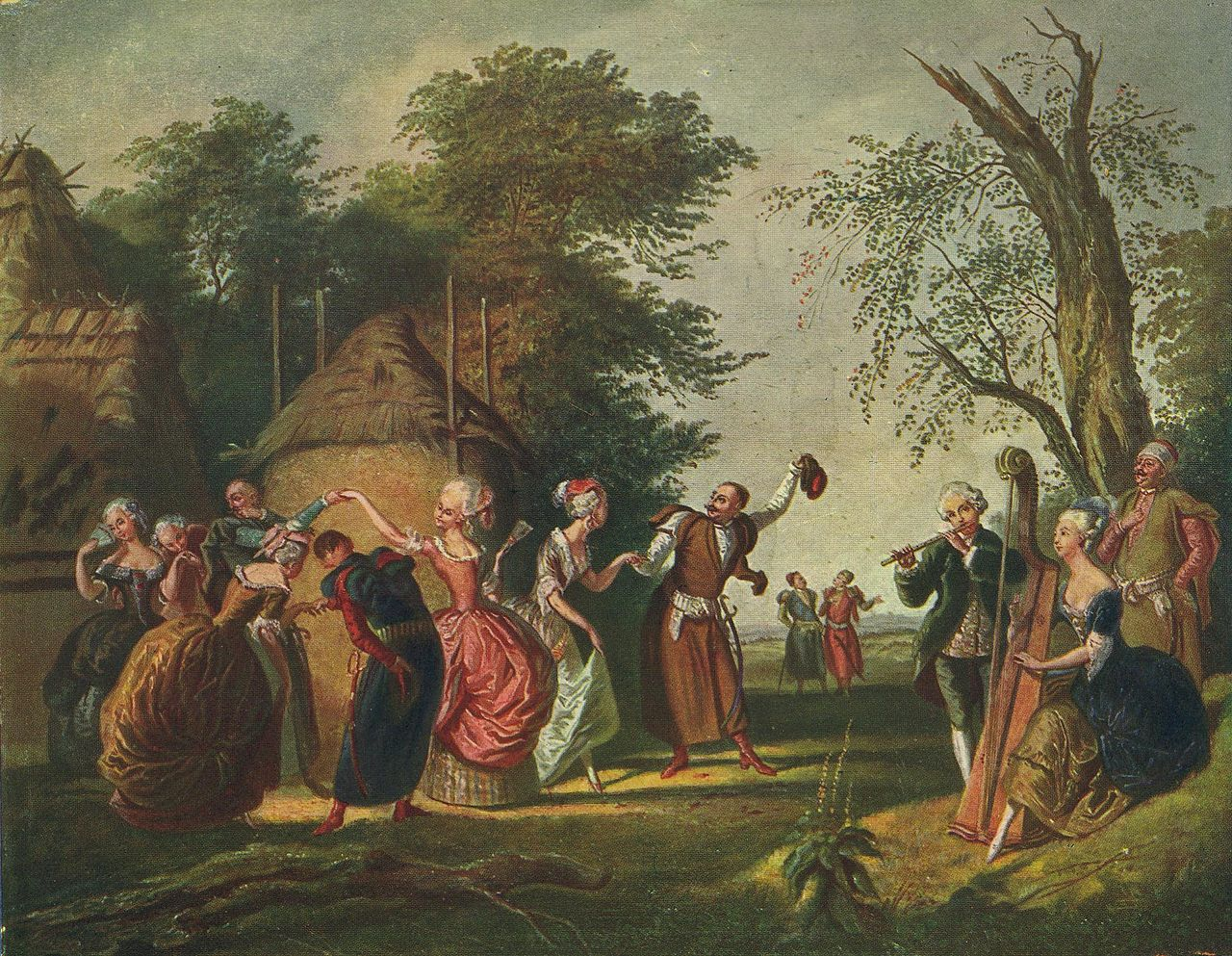 Polish nobility dancing Polonaise in the open on a painting by This 19th century painting by Korneli Szlegel, Source: Wikimedia/CC