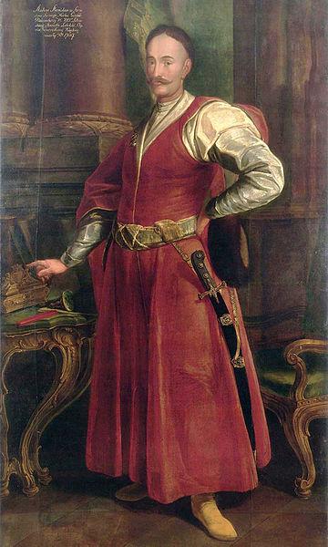 Stanisław Antoni Szczuka portayed in a typical Sarmatian portrait; Source Wikimedia/ Wilanów Palace Museum