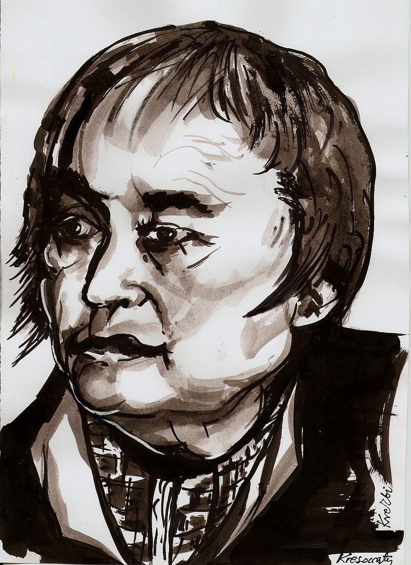 """Maria Janion, drawn by Zbignie""""Maria Janion by Zbigniew Kresowaty; Source: Wikimedia Commons"""