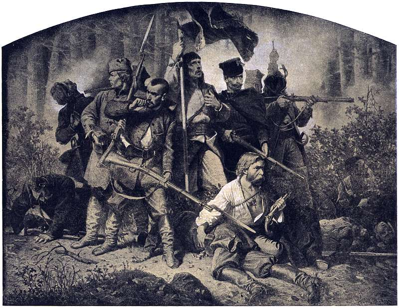 Were the insurgents of the January Uprising embodying the patriotic upiórs and vampires? The Battle from Artur Grottger's Polonia series; Source: Wikimedia