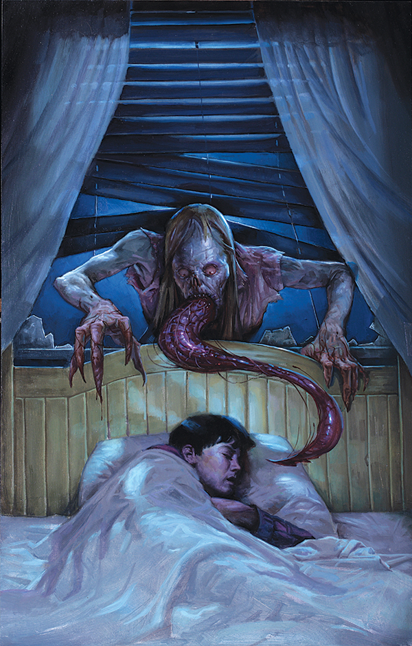 The Strain - cover of the comic strip adapted from Del Toro's novel; source: comic bastard