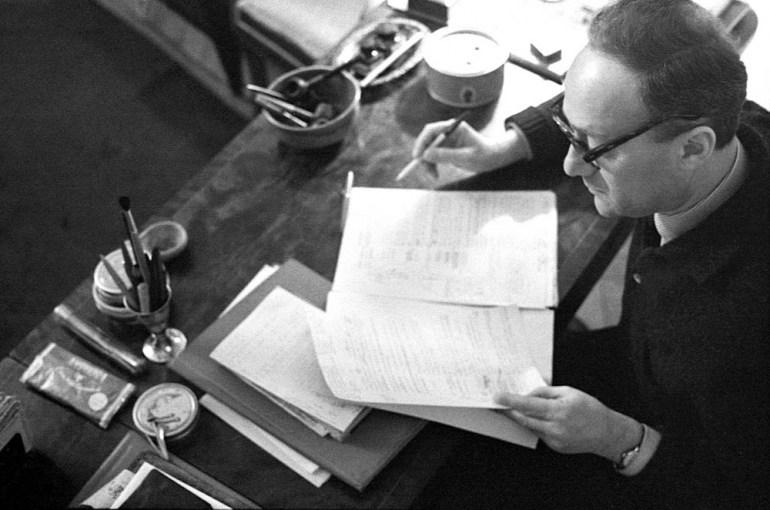 Kazimierz Brandys, Warszawa 1963, fot. Janusz Sobolewski / Forum