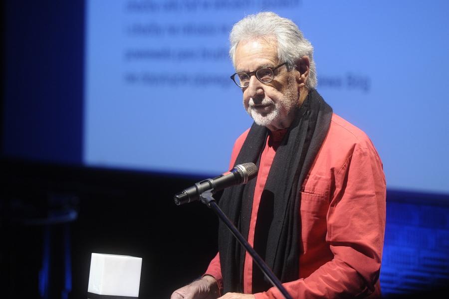 Breyten Breytenbach at the Zbigniew Herbert Literary Award 2017 ceremony, 25th May 2017, photo: Niemiec/AKPA