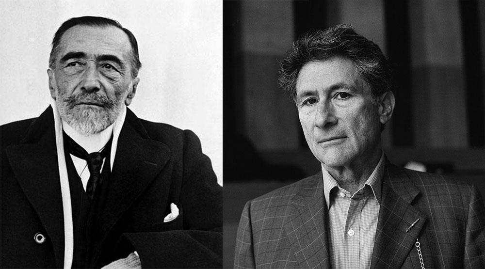 Joseph Conrad, 1923, photo: East News, Edward Said, 1999, photo: Akg-images/Bruni Meya/East News