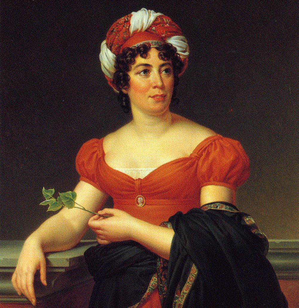 "François Pascal Simon Gérard, ""Portrait of Madame de Staël"", 1810, oil on canvas, photo: University of Texas Libraries"
