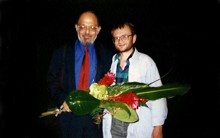 Allan Ginsberg i Włodzimierz Dulemba, fot. z archiwum poety