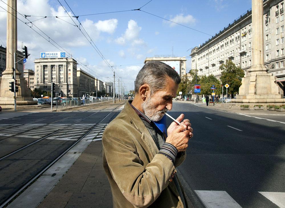 Marek Nowakowski na placu Konstytucji, 2011, fot. Czesław Czapliński/FOTONOVA/East News