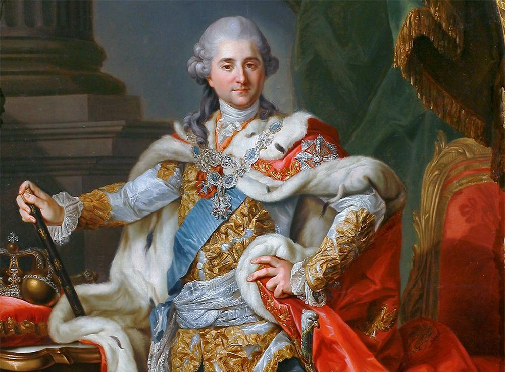 Marcello Bacciarelli, portrait of King Stanisław August Poniatowski in coronation garb, 1768, fragment of the painting, photo:Vademecum Zamku Warszawskiego, Warsaw