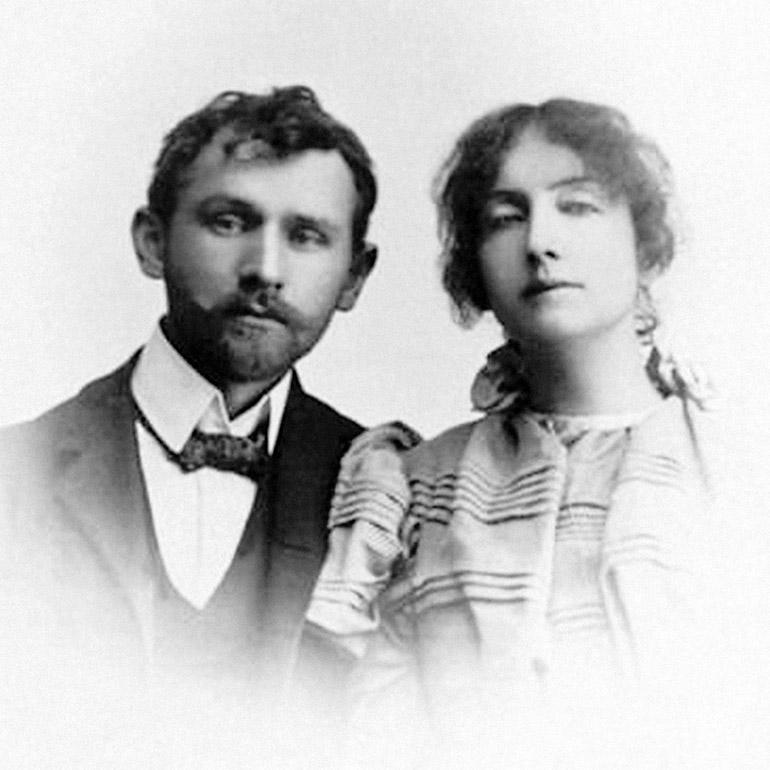 Stanisław Przybyszewski and his first wife Dagny, photo: Marek Skorupski / Forum