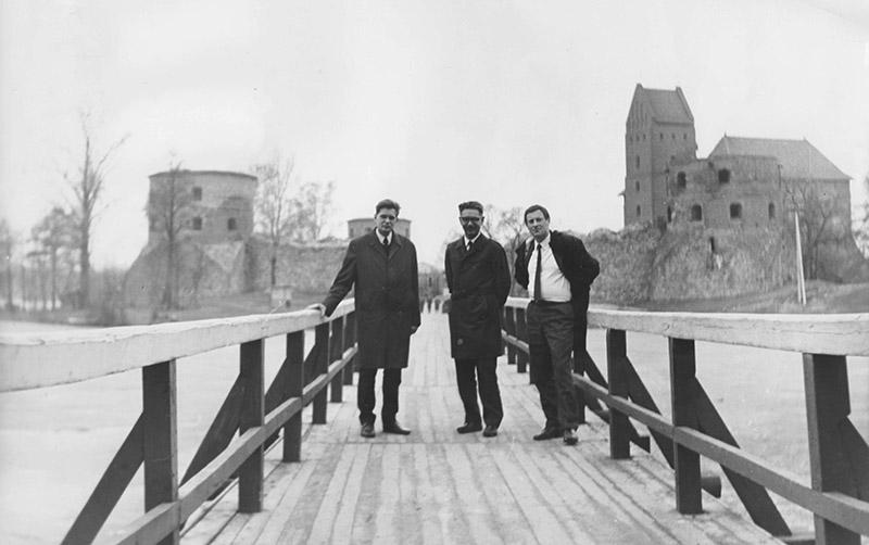 Томас Венцлова, Виктор Ворошильский и Иосиф Бродский. Тракай, Литва, 1971. Фото: Янина Ворошильская