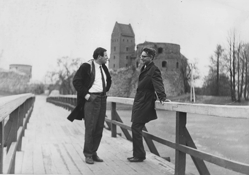 Иосиф Бродский и Виктор Ворошильский. Тракай, Литва, 1971. Фото: Янина Ворошильская