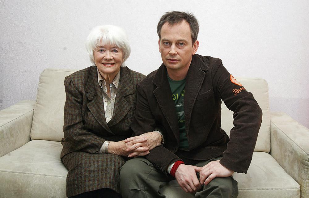 Alina Janowska z synem Michałem Zabłockim, fot. Krzysztof Kuczyk/Forum