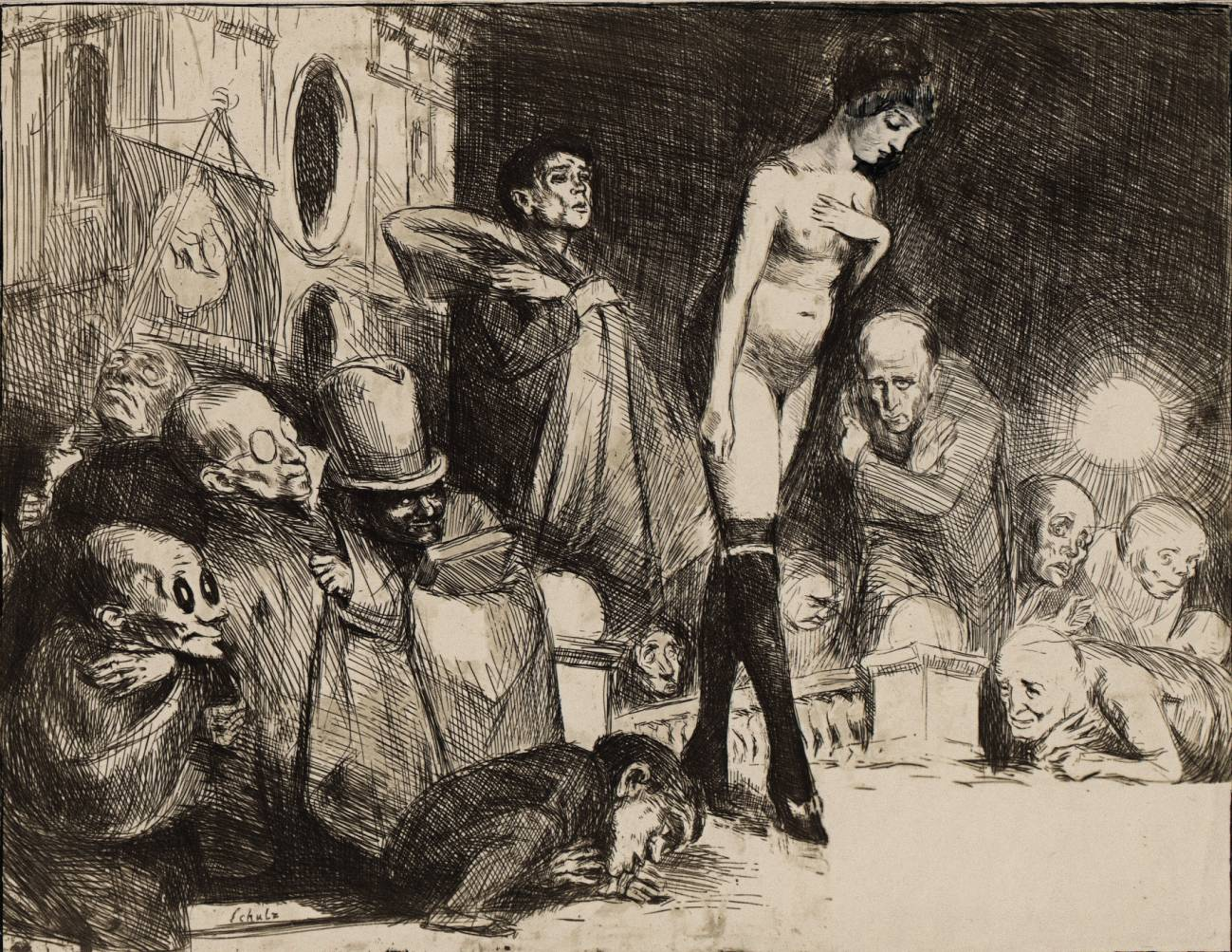 Bruno Schulz's The Procession (Procesja)  - a cliche-verre print from the series The Idolatry Booke
