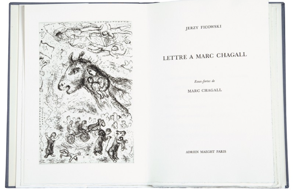 ​The French edition of A Letter to Marc Chagall, with illustrations. Source: www.desa.pl