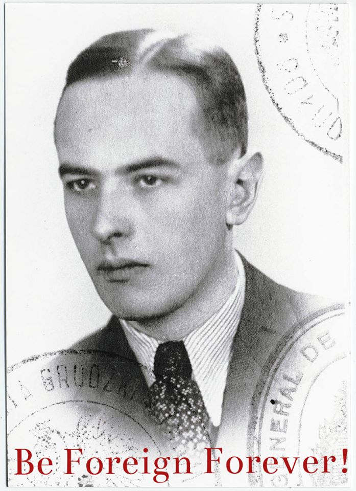 Witold Gombrowicz's passport photo; Source: Wikipedia/CC, photo edit: Culture.pl