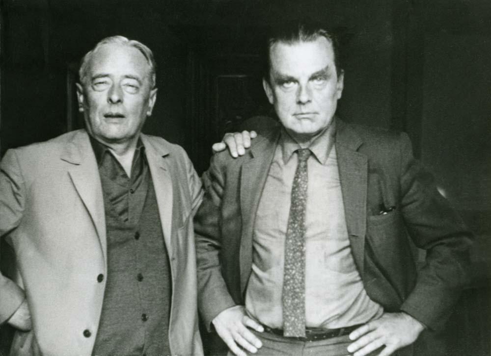 Witold Gombrowicz i Czesław Miłosz, fot. Oswaldo Malura / archiwum Rity Gombrowicz / Fotonova / East News