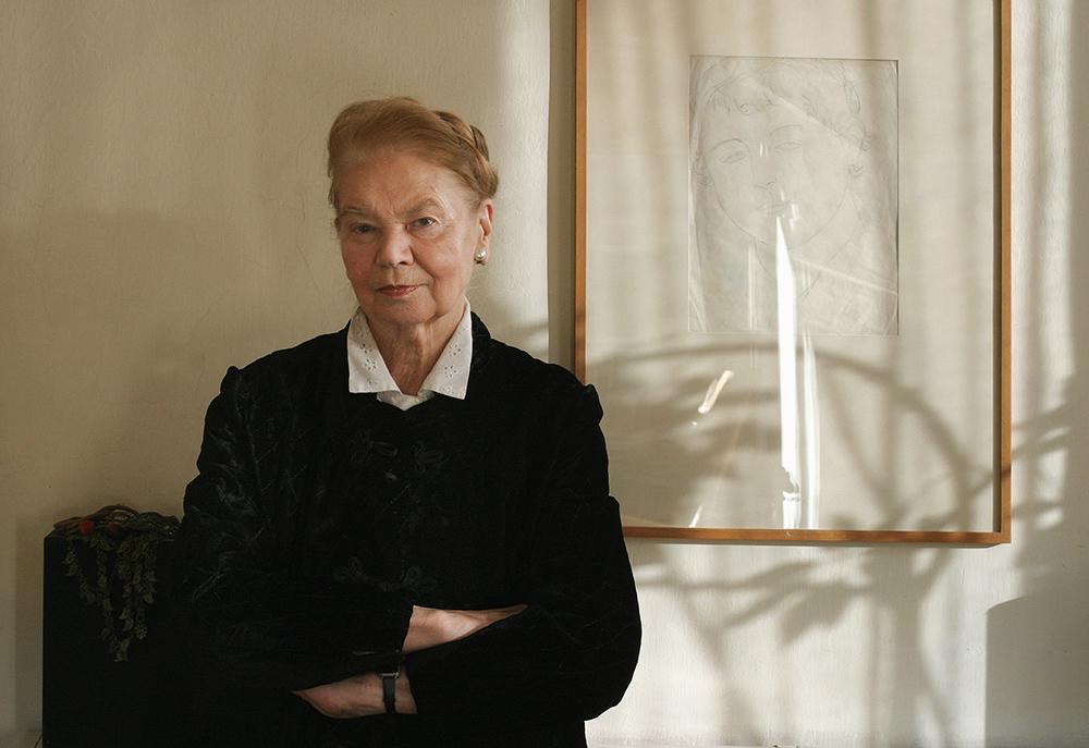 Julia Hartwig, Warszawa, 2003, fot. Jarosław Stachowicz/Forum