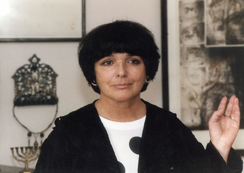 Hanna Krall, 1991, fot. Witold Szulecki/Forum