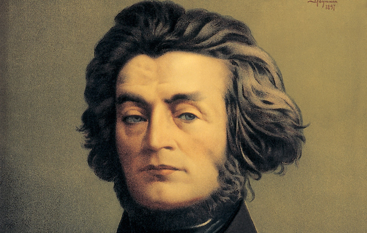 A portrait of Adam Mickiewicz by S.Chejmann; image courtesy of Marek Skorupski / FORUM
