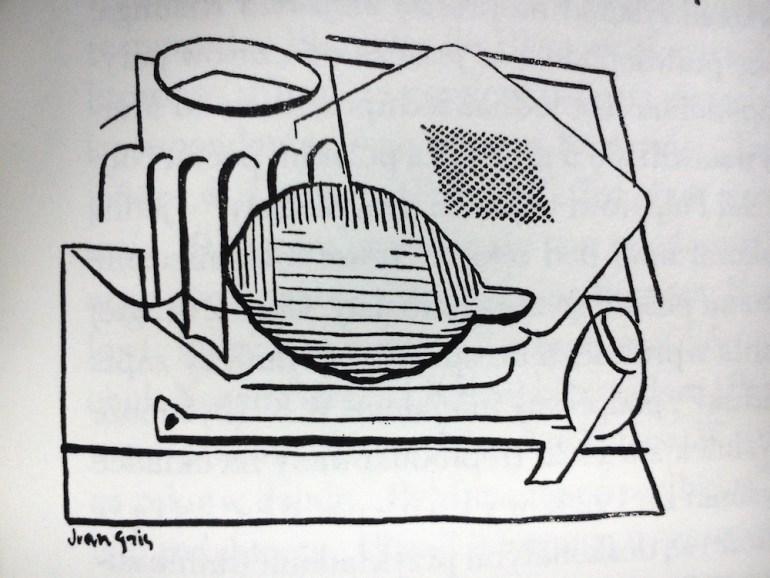 "Ilustracja Juana Grisa do tomu ""Poezje"" Tadeusza Peipera"