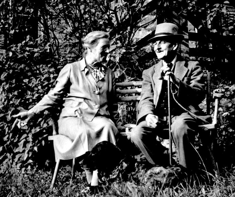 Henryk Sienkiewicz z siostrą (Jadwiga Korniłowicz), fot. Topham Picturepoint / Forum