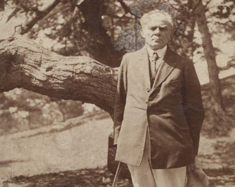 Стефан Жеромский на Хельской косе, 1922, фото: Национальная библиотека (POLONA)