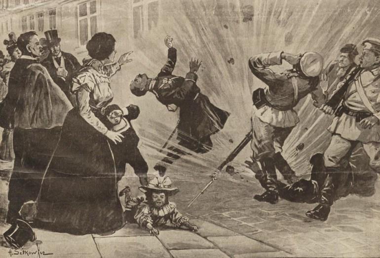"""""""Spełnienie wyroku śmierci przez P.P.S."""" na łamach """"Nowości Ilustrowanych"""", Kraków, 26 maja 1906"""
