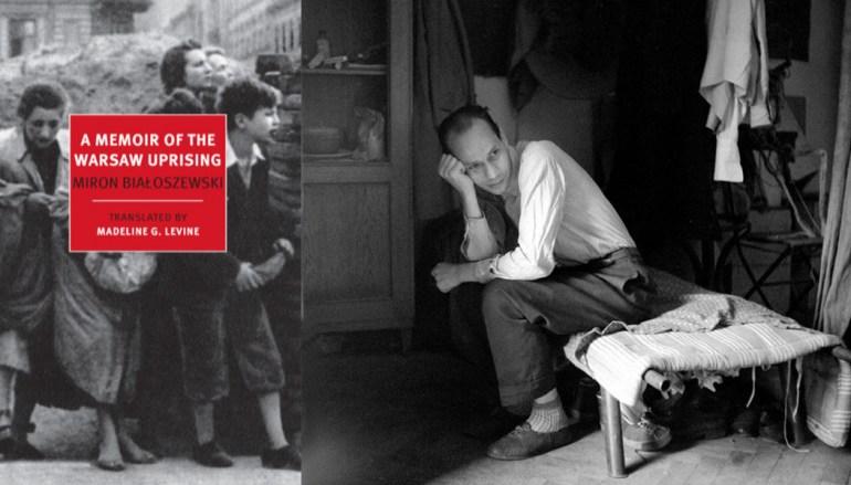 Cover of the book  A Memoir of the Warsaw Uprising by Miron Białoszewski and portrait of  Miron Białoszewski, photo:  fot. Janusz Sobolewski / Forum