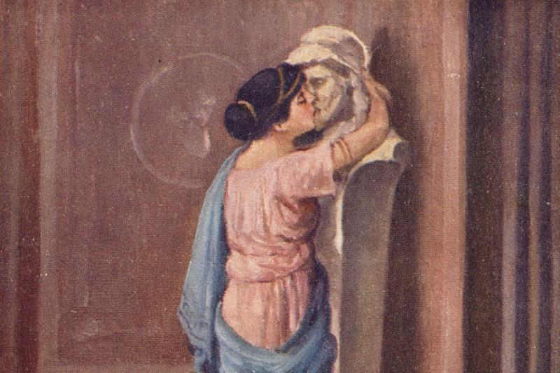 Quo vadis: Eunice całuje posąg Petroniusza, fot. Biblioteka Narodowa, Polona.pl
