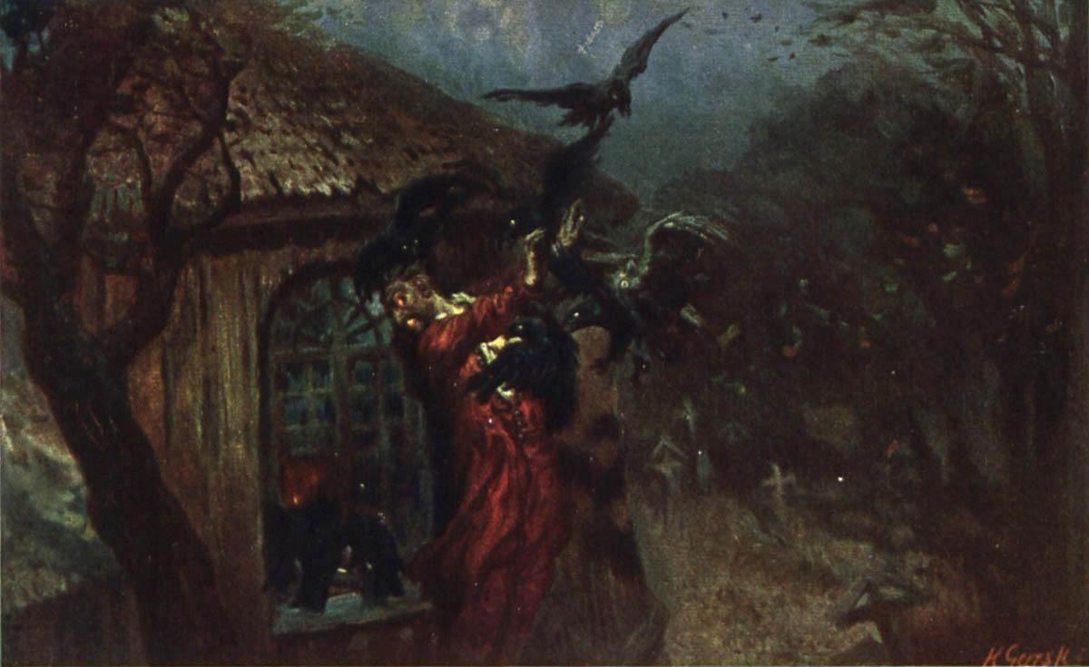 """Ilustracja Konstantego Górskiego do """"Dziadów"""", 1911, fot. WBP Lublin"""
