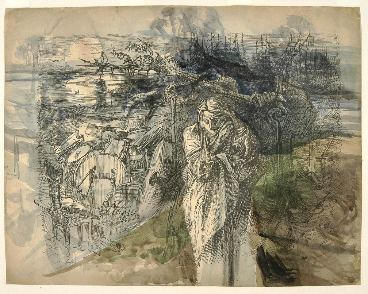 """Cyprian Kamil Norwid, """"Melancholia"""", 1861, fot. Biblioteka Narodowa/Polona.pl"""