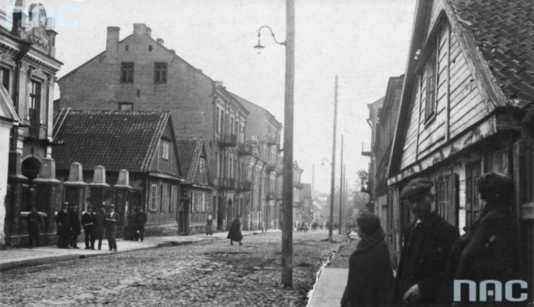 Ulica Zielona, the street in Białystok where Zamenhof was born, renamed in his honour after his death, 1918-1927; Source: NAC