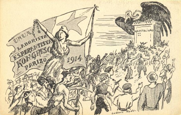 First Congress of Worker Esperantists (caricature), 1914; Source: Österreichische Nationalbibliothek