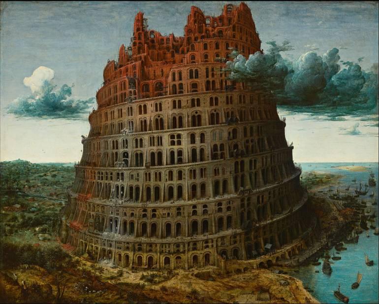 Pieter Bruegel the Elder, The Tower of Babel, Source: Wikimedia/CC
