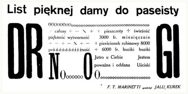 Фрагмент футуристского текста. Фото: публичный доступ