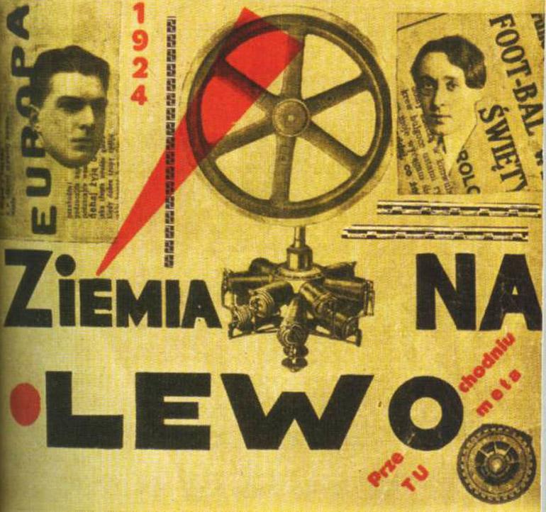 """Bruno Jasieński, Anatol Stern, """"Ziemia na lewo"""" - okładka książki z 1924 roku"""